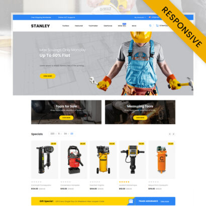 Stanley - Tools Hardware Store OpenCart Theme