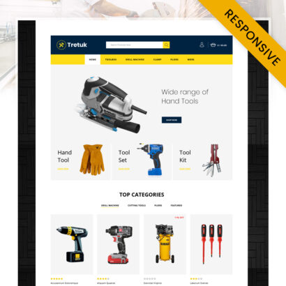 Tretuk - Best Tools Store OpenCart Theme