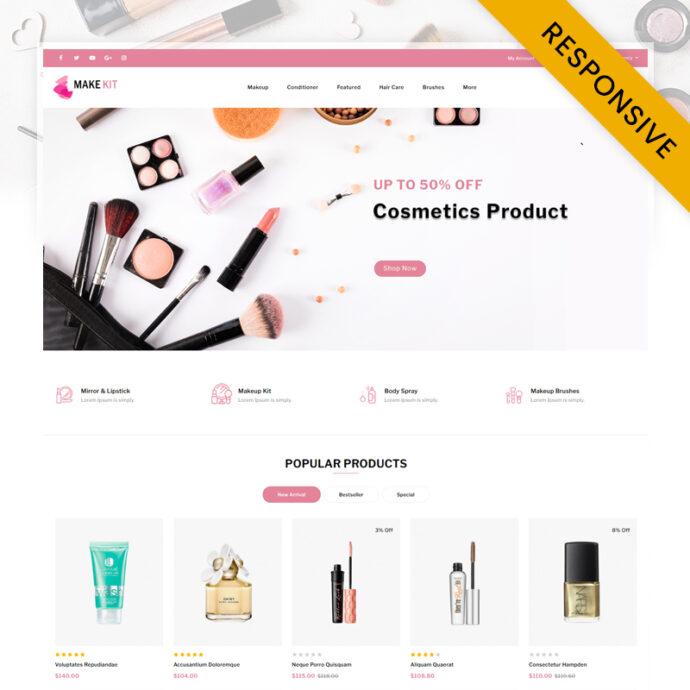 MakeKit - Cosmetic Store OpenCart Theme