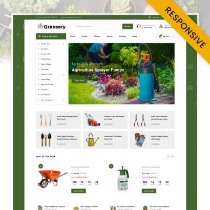 Grassery - Garden Tools Store OpenCart Theme