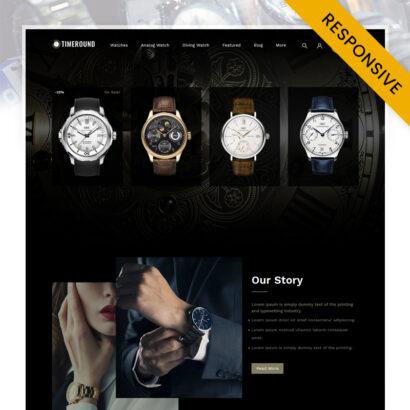 TimeRound - Watch Store OpenCart Theme