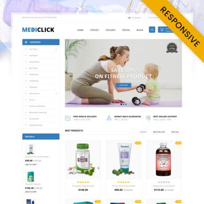 Medi Click - Drugs Store OpenCart Theme
