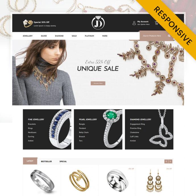 Diamond Jewelry Store OpenCart Theme