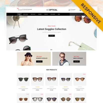 Optical - Eye Glasses Store OpenCart Theme