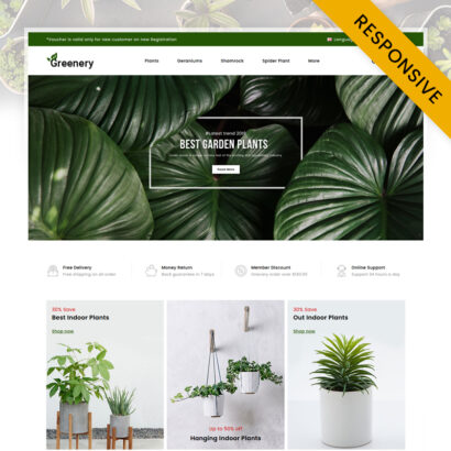 Greenery - Plant Store OpenCart Theme