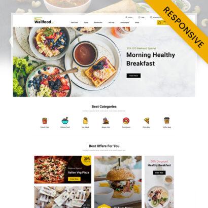 WallFood - Restaurant Store OpenCart Theme