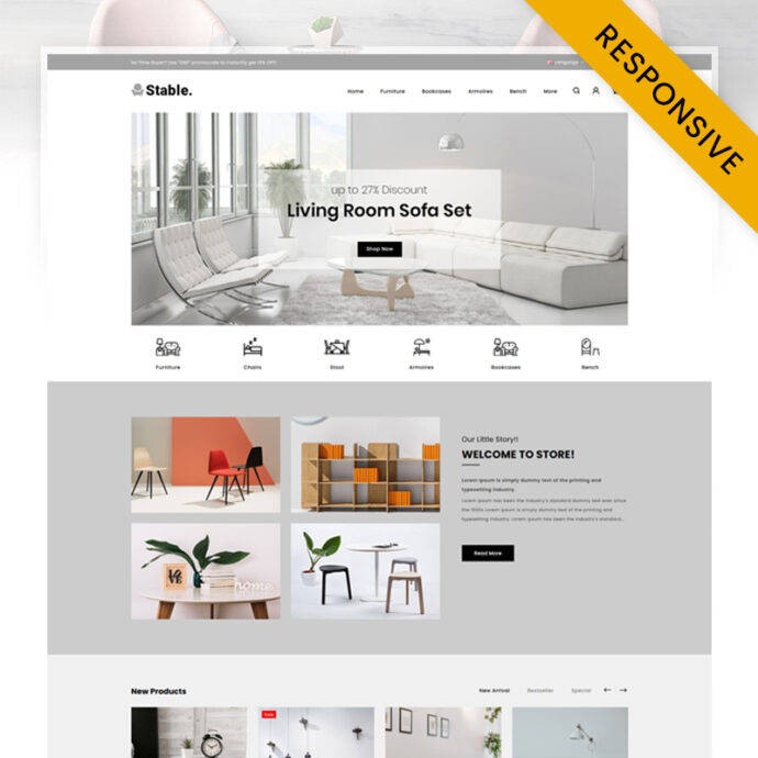 Stable - Modern Furniture Store OpenCart Theme