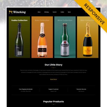 WineKing - Wine Store OpenCart Theme