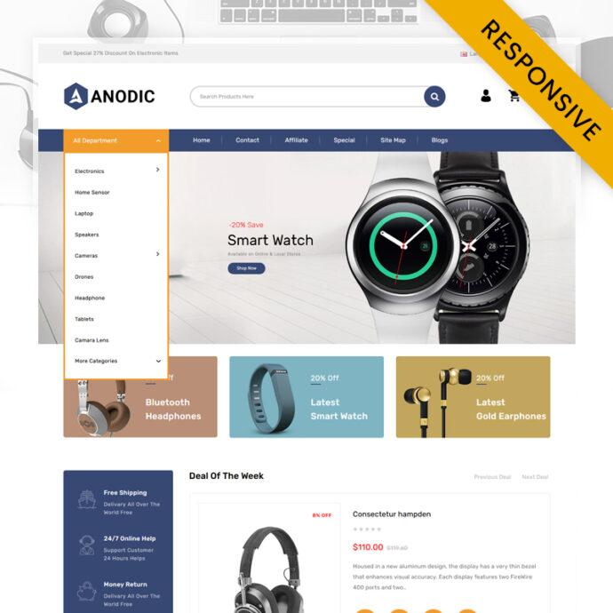Anodic - Electronics Store OpenCart Theme