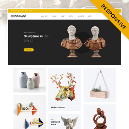 Convass - Art Gallery Store OpenCart Theme