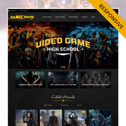 Video Games Store OpenCart Theme