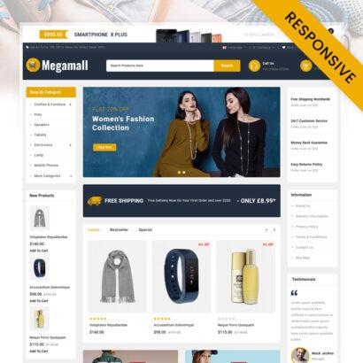 Megamall - Multipurpose Store OpenCart Theme