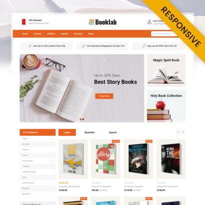 Booklab - Books Store OpenCart Theme