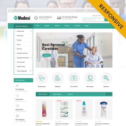 Medexi - Medical Store OpenCart Theme