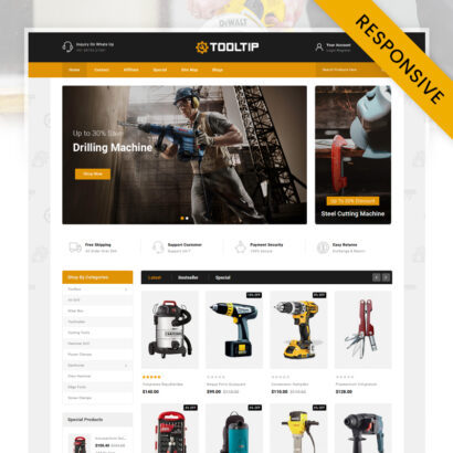 Tooltip - HandTools Store OpenCart Theme