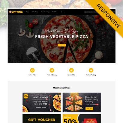 PizzaMart - Online Pizza Store OpenCart Theme