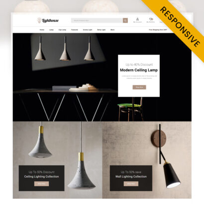 LightHouse - Modern Lamp Store OpenCart Theme