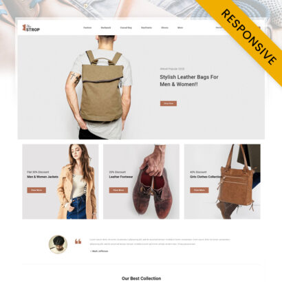 The Strop Leather Store OpenCart Theme