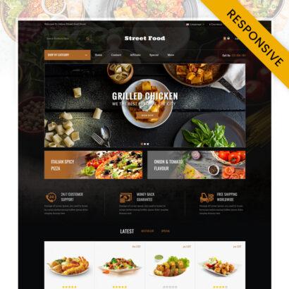 Street Food Store OpenCart Theme