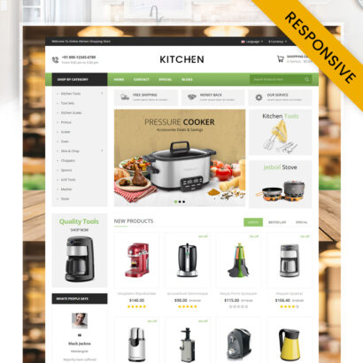 Kitchen Appliance Store OpenCart Theme