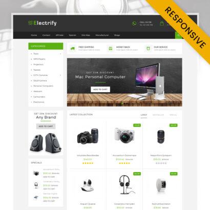 Electrify Digital Store OpenCart Theme