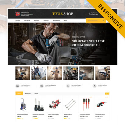Tools Shop OpenCart Theme