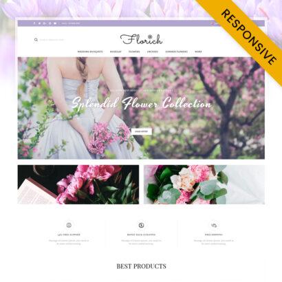 Florich - Wedding Flowers Store OpenCart Theme