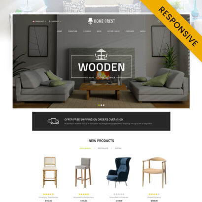 Home Crest - Furniture Store OpenCart Theme