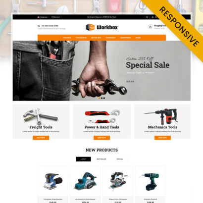 Work Box - Tools Store OpenCart Theme