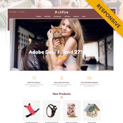 Petfire - Animals Store OpenCart Theme