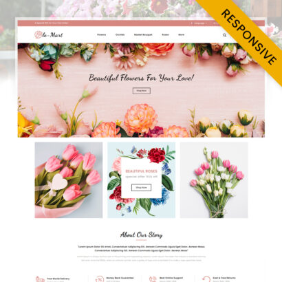 FloMart Flowers Shop OpenCart Theme