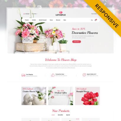 Lotusflo - Flowers Store OpenCart Theme
