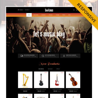 Beatmus - Musical Instrument Store OpenCart Theme