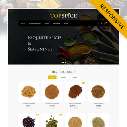 Top Spice Store OpenCart Theme