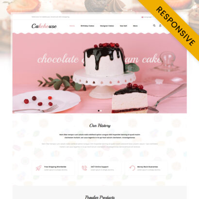 Cakehouse - Cake Store OpenCart Theme