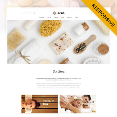 Luxe Spa Store OpenCart Theme
