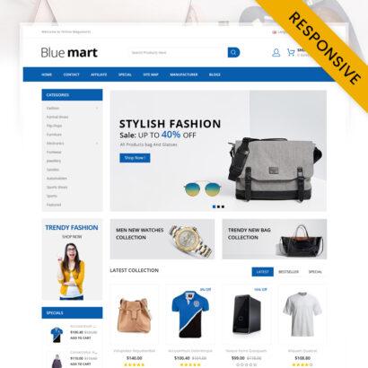 Blue Mart - Online Mega Store OpenCart Theme