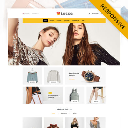 Lucca - Fashion Store OpenCart Theme