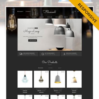 Filament Lighting Store OpenCart Theme