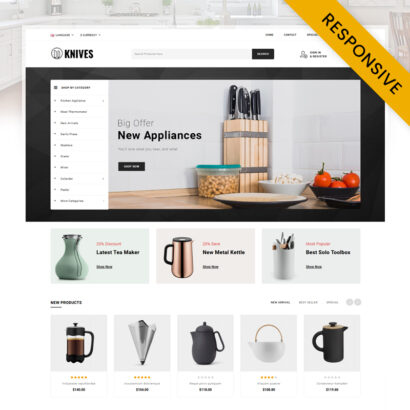 Knives - Kitchen Appliances Store OpenCart Theme