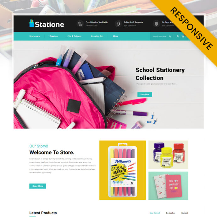 The Stationary Store OpenCart Theme