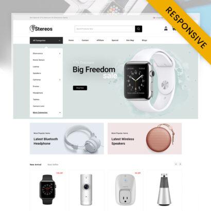 Stereos - Electronics Store OpenCart Theme
