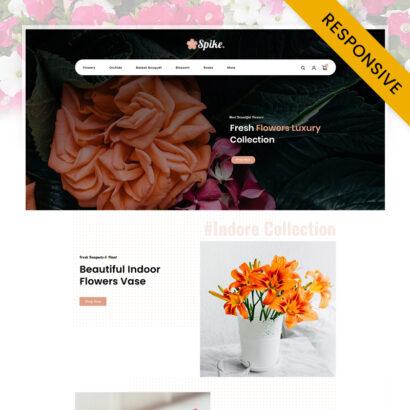 Spike - Fresh Flowers Store OpenCart Theme