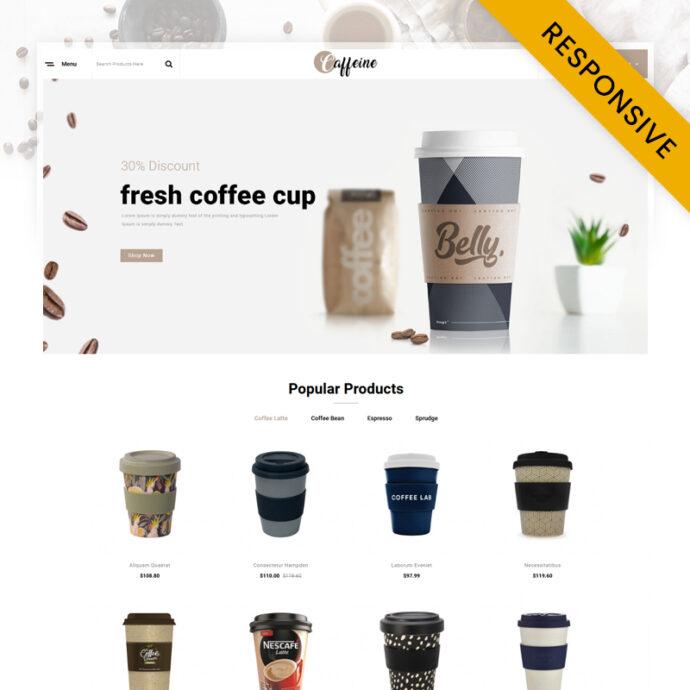 Caffeine - Coffee Store OpenCart Theme