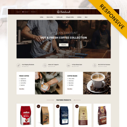Hotdrink - Coffee Store OpenCart Theme