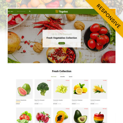 Vegebox - Fresh Vegetables Store OpenCart Theme