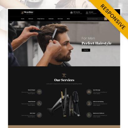 Menshine - Hair Salon Store OpenCart Theme