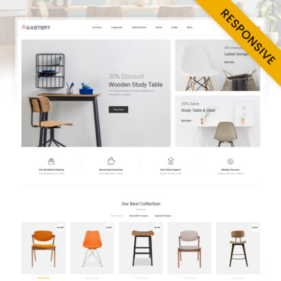 Kastery - Wood Furniture Store OpenCart Theme