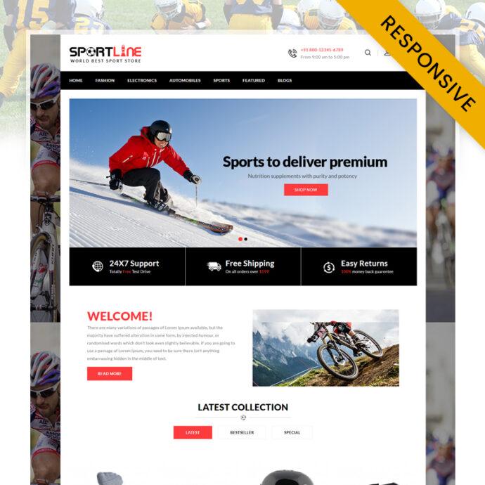 Sport Line - Sports Store OpenCart Theme