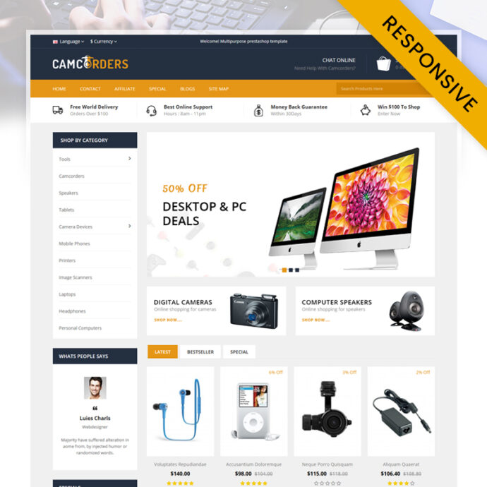 Camcorder - Electronics Store OpenCart Theme